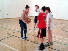 Sinead Maxwell takes charge of the boys at 3on3