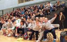 Under 10 Girls attend Men's game