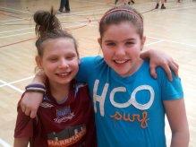 Lainey and Ileana enjoy the fun