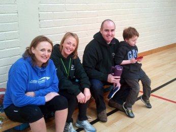 Sinead, Jacinta, Barry enjoy the morning with one future star