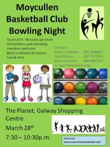 Moycullen Basketball Bowling night1