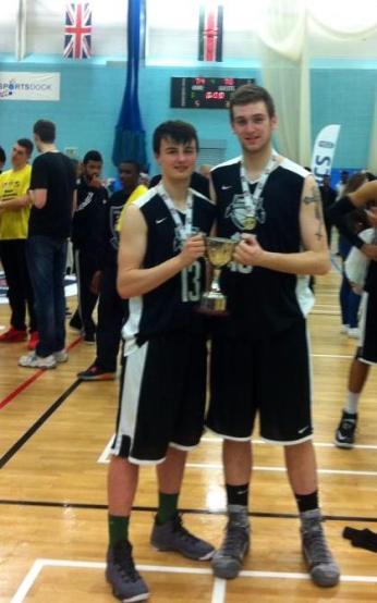 Patrick with Oisin Kerlin, another Irish player