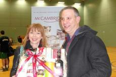 McCambridges Hamper winner Linda Cunningham completed a great day for the family.