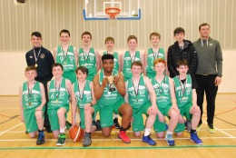 William with the U15 league trophy