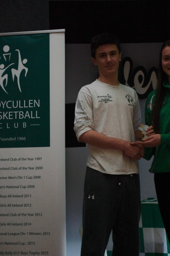 U18 Boys Player of the Year Eoghan Kelly