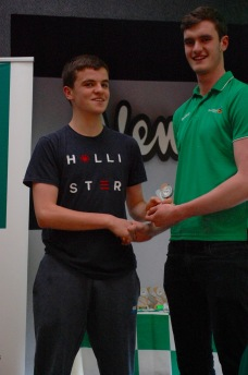 U15 Boys Player of the Year Paul Kelly