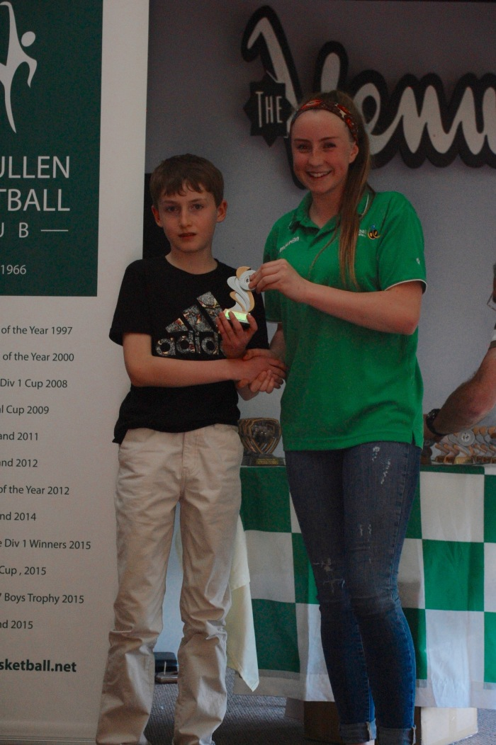 Rory O'Sullivan U12 Boys Player of the Year