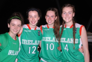 Catherine & Aine with Anna Maguire & Verity O'Connor