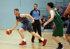 Moycullen v Maree Super League Basketball game at the Kingfisher, NUI Galway. Enda Walsh, Maree, and Cian Nihill, Moycullen.