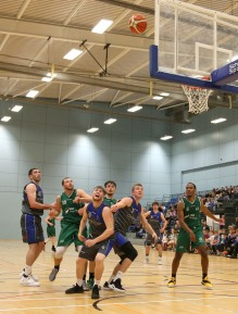 Moycullen v Maree Super League Basketball game at the Kingfisher, NUI Galway. Paul Freeman, Charlie Crowley and Sean Sellers, Maree, and Moycullen's Dylan Cunningham, Patrick Lyons and Isaiah Harris-Winn