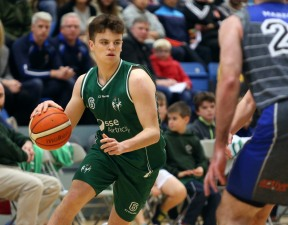 Moycullen v Maree Super League Basketball game at the Kingfisher, NUI Galway. Moycullen's Paul Kelly